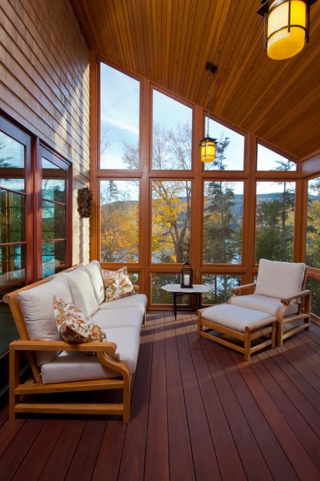 Имитация бруса применяется, как для внешней, так и для внутренней отделки дома