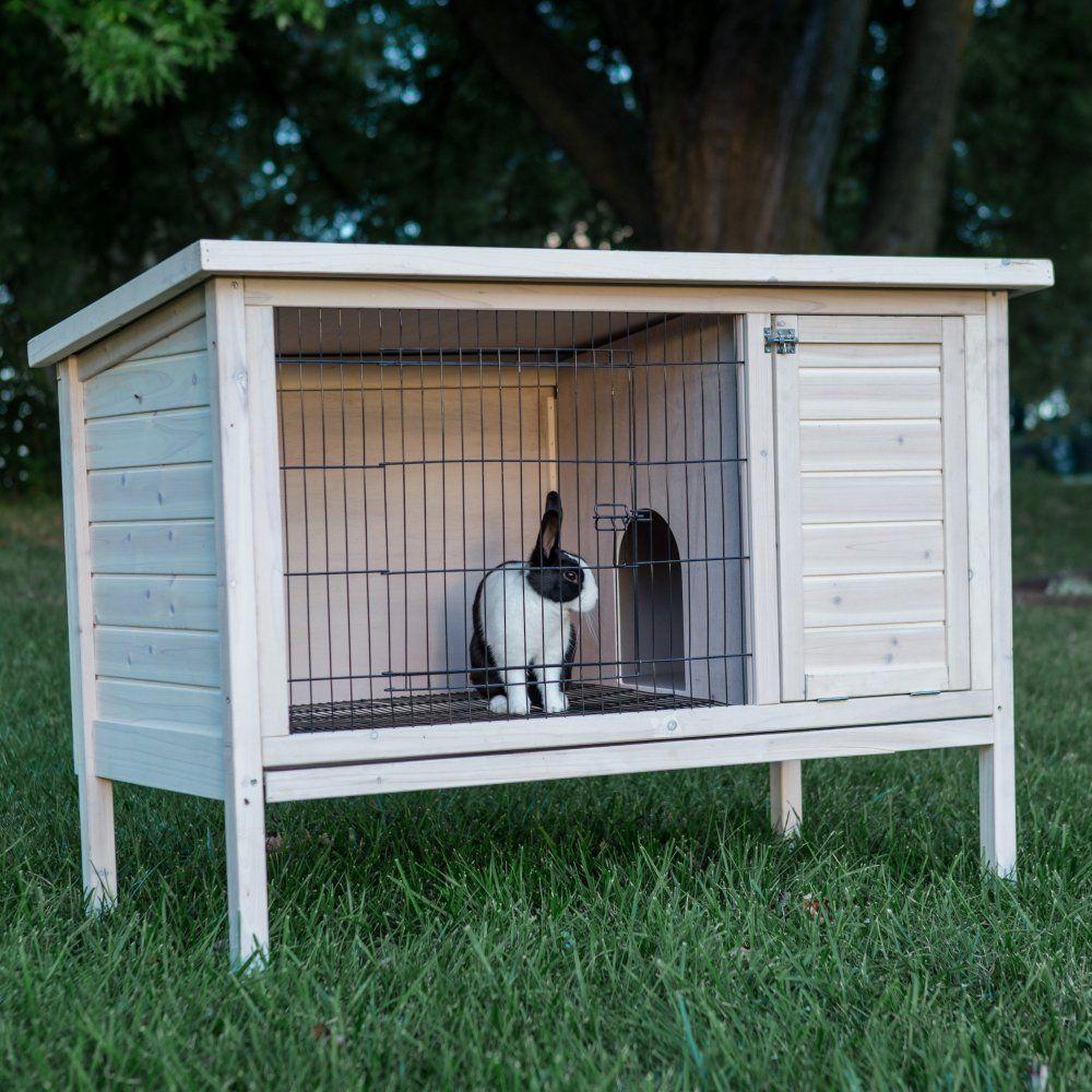 Как сделать зимний дом для кроликов