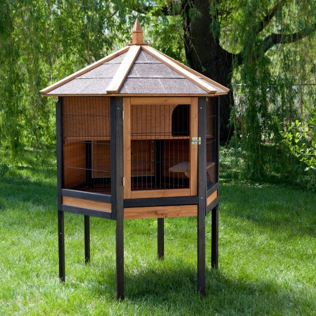 """Домик для кроликов с крышей в стиле """"Пагода"""""""