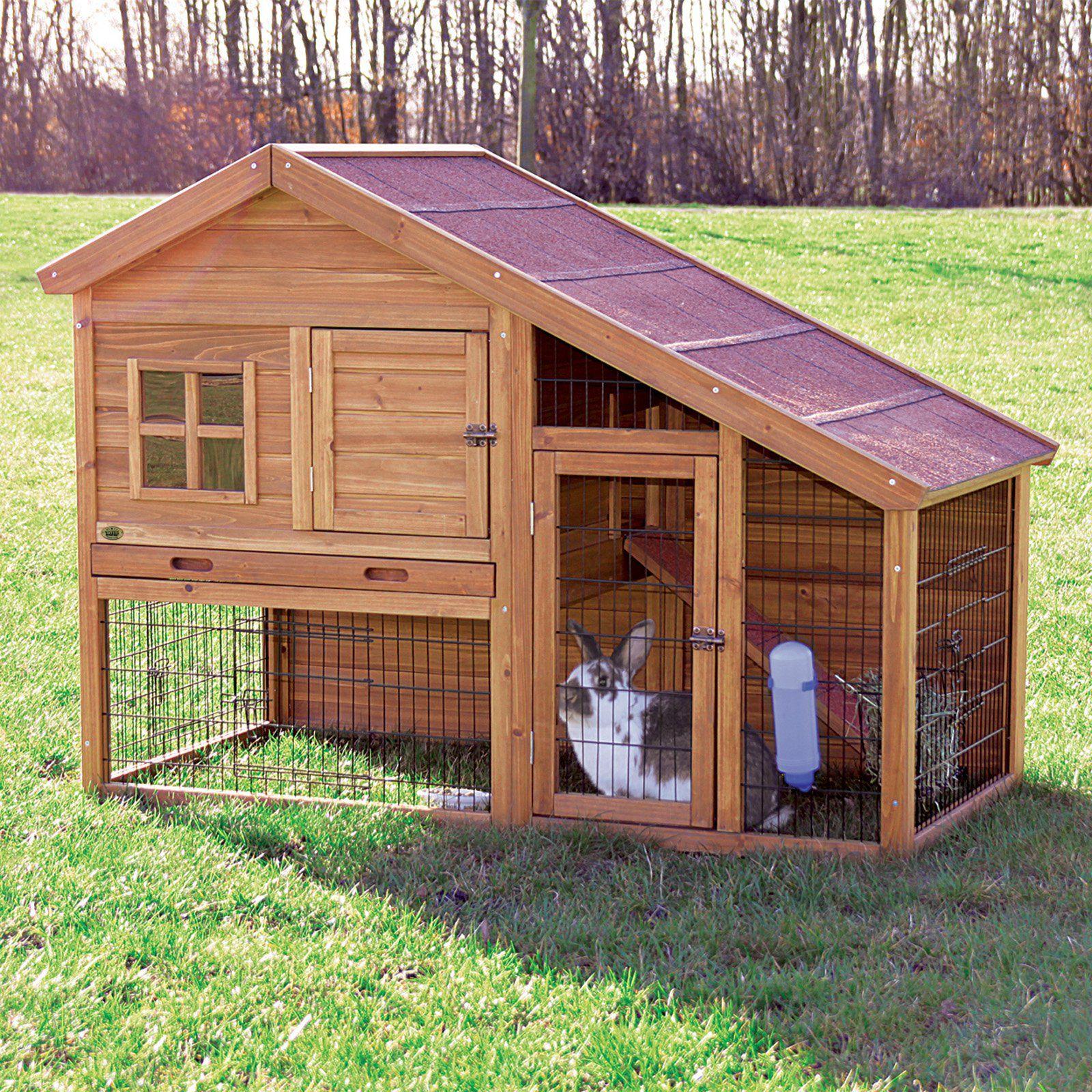 Как построить домик для кроликов своими руками из досок