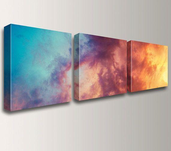 Триптих в потрясающей цветовой гамме