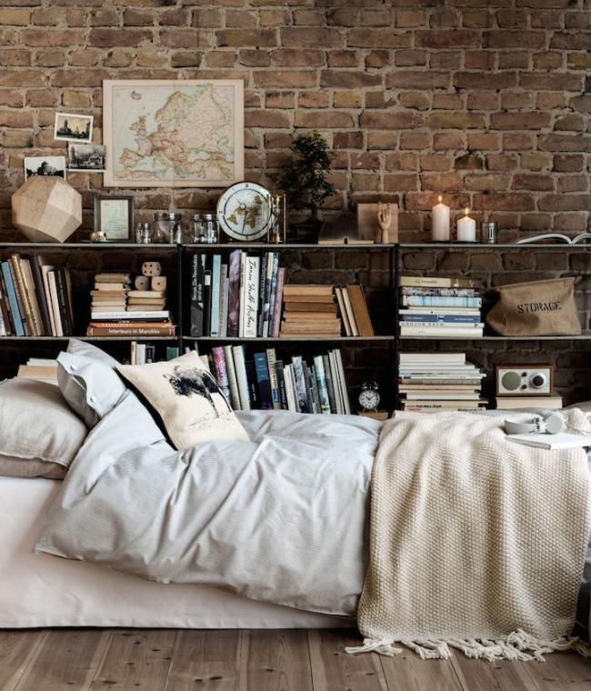 Односпальная кровать в стиле лофт