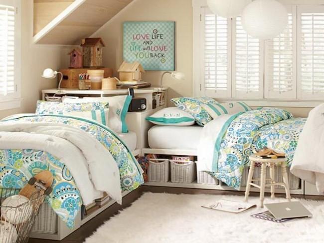 Кровать-платформа с местом для хранения личных вещей