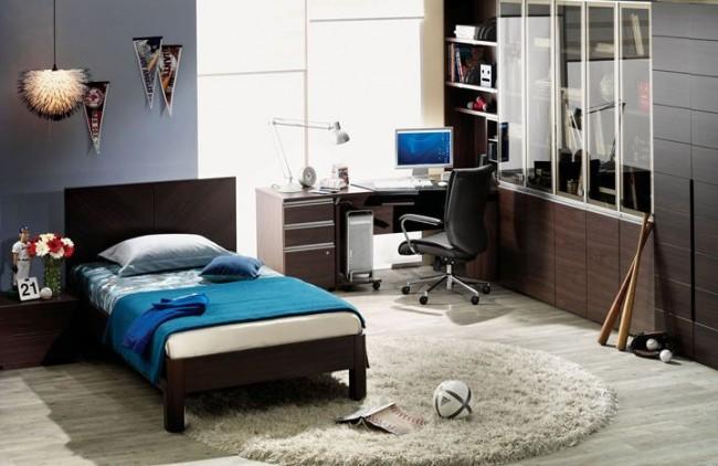 Кровать выполняет одну из главных ролей в интерьере комнаты