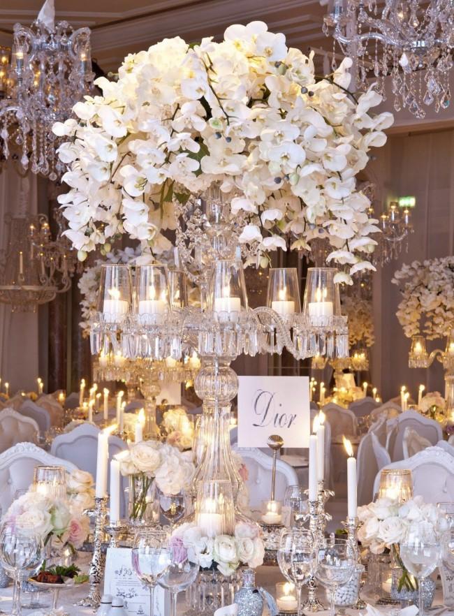 Воздушно и нежно: хрусталь, серебро, орхидеи