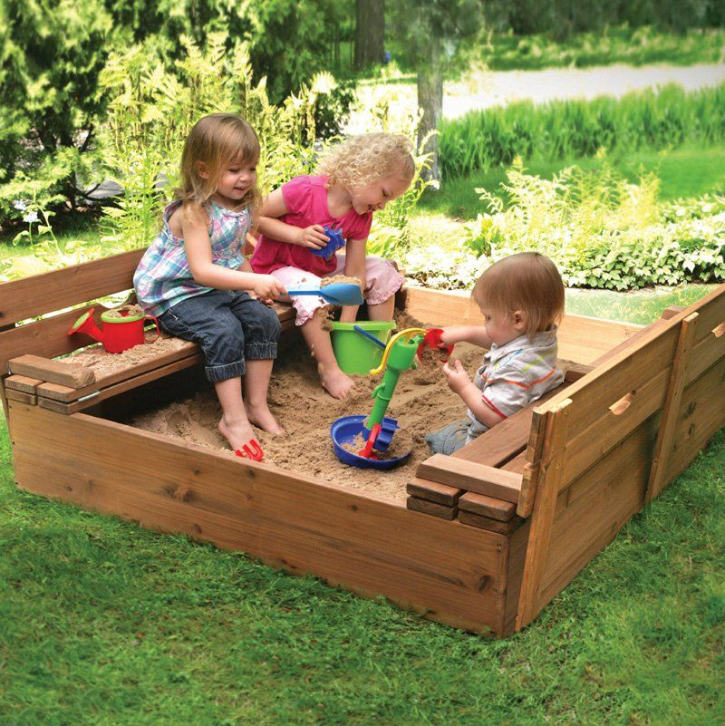 Песочница для детского сада своими руками