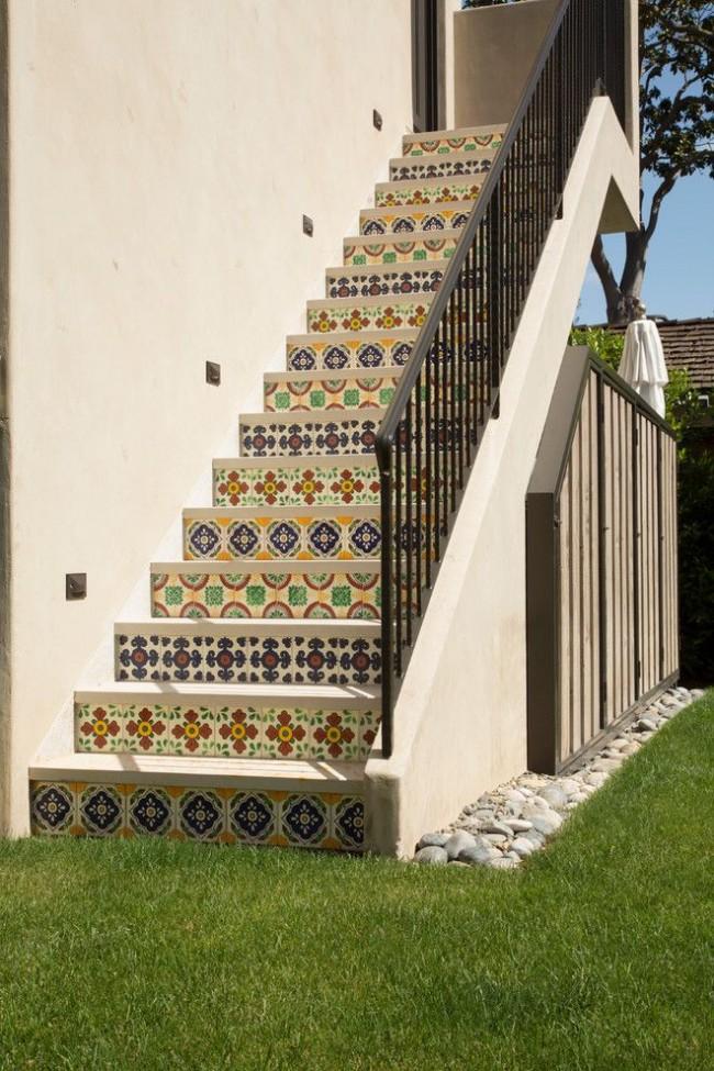Лестница в средиземноморском стиле