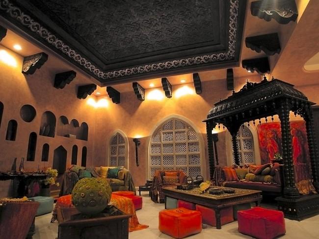 Мебель ручной работы добавляет атмосфере торжества, пышности и роскоши.