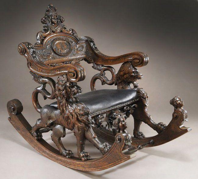 Резное кресло-качалка