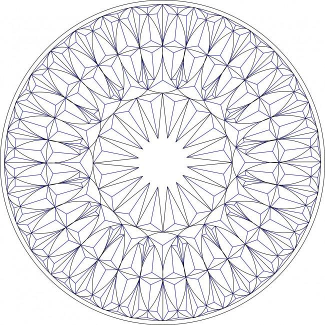 Эскиз розетки с геометрическим узором