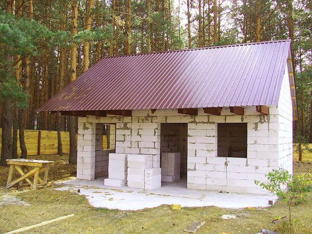 Дачный домик 4х6 из пеноблока