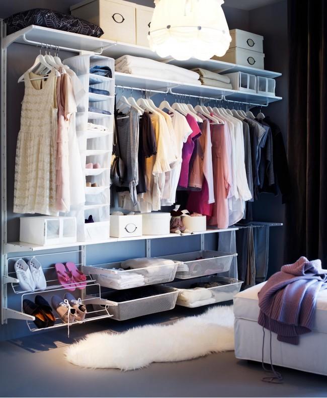 Для обустройства гардеробной в современной квартире будет достаточно 3-5 метров