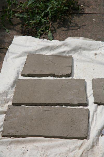 Подготовка листов глины