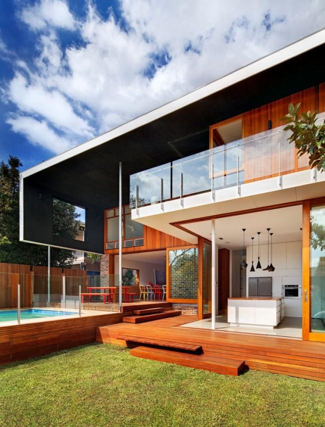 Плоская крыша в современном стиле
