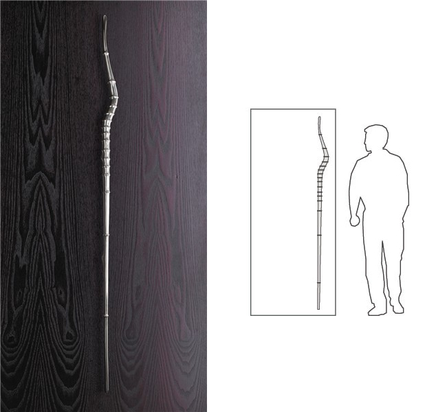 Дверные ручки для межкомнатных дверей. Дизайнерская модель дверной ручки на всю высоту двери