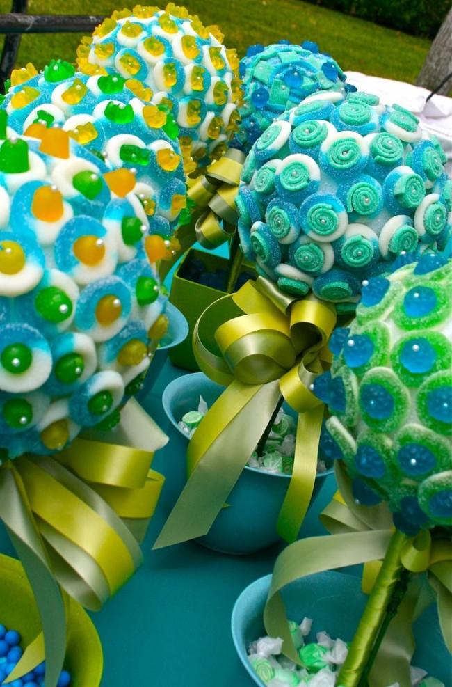 Как создать домашний топиарий. Яркие топиарии из леденцов и конфеток - отличная идея для вечеринок в саду или дома