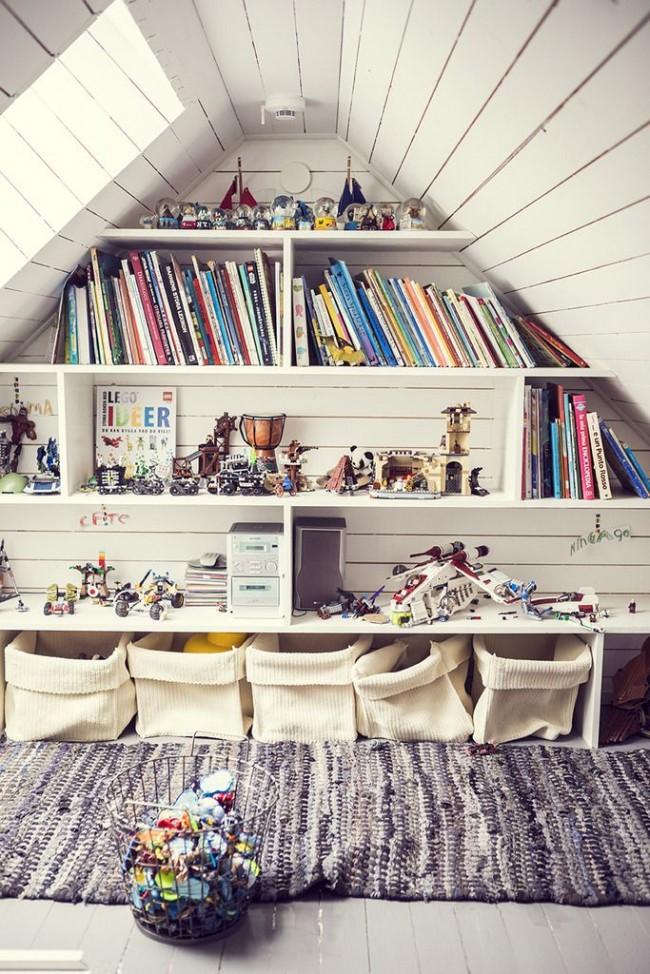 Мансардный этаж. Комната для игр в чердачном помещении - мечта любого ребенка