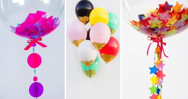 Оформление зала на свадьбу: идеи для оформления зала на свадьбу с надувными шариками, глиттером и конфетти