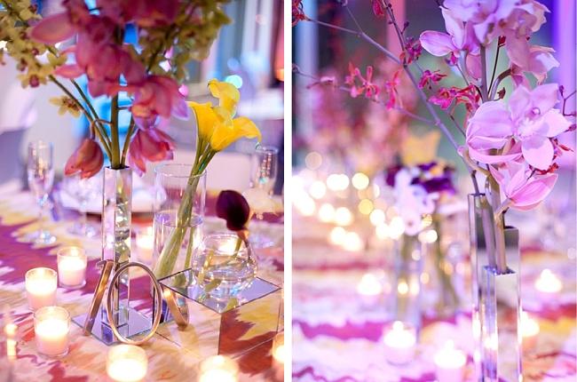 Оформление зала на свадьбу. Каллы, орхидеи - изысканные цветы, популярные в свадебной флористике