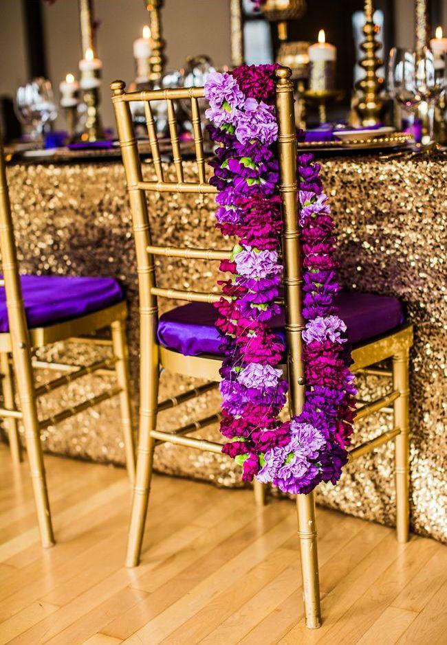 Королевское сочетание: золото и пурпур