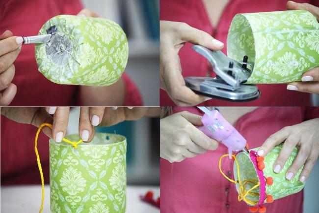 Пошаговое руководство: делаем симпатичные тканевые горшочки на основах из пластиковых бутылок. Часть 2