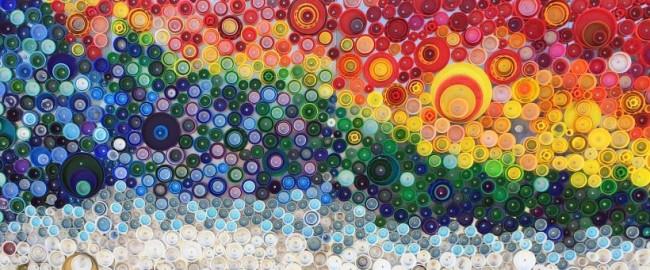 Поделки из пробок от пластиковых бутылок. Картины из крышек пластиковых и других бутылок переросли в целый жанр стрит-арта и не только