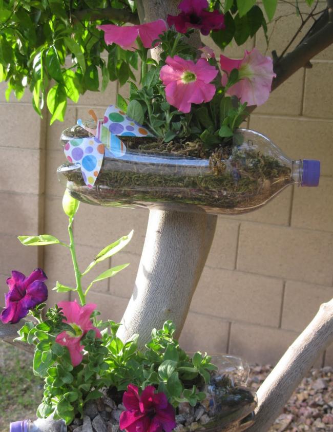 Находчивость в способах разместить много растений на садовом участке