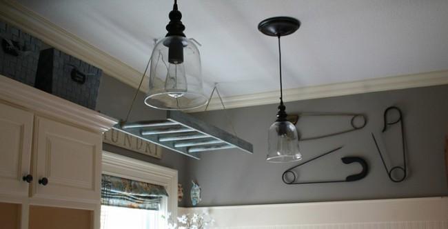 Потолочная сушилка для белья на балкон. Популярный удобный подвесной вариант: сушилка-лестница