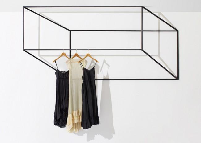 Потолочная сушилка для белья на балкон. Забавная дизайнерская геометричная 3D-сушилка для белья с настенно-потолочным креплением