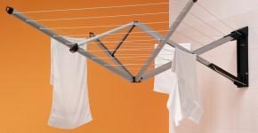Сушилки для белья настенные (48 фото): раздвижные, стационарные и другие варианты фото