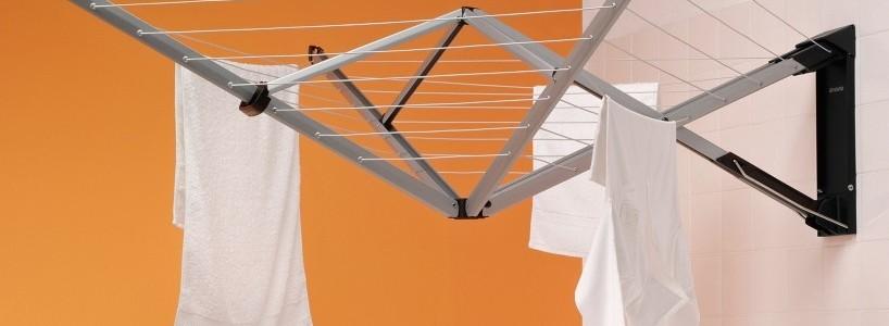 Сушилки для белья настенные (48 фото): раздвижные, стационарные и другие варианты