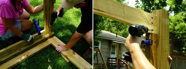 вольер для собаки своими руками. Шаг 3: собираем деревянный каркас, покрываем его морилкой и лаком