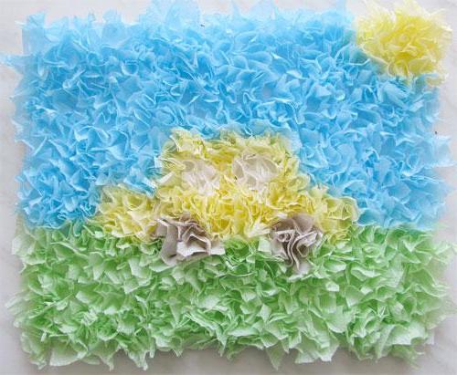 Панно из бумаги с махровым эффектом