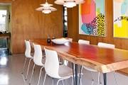 Фото 2 Обеденные столы (56 фото): разновидности, материалы, дизайн
