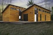 Фото 6 Деревянные дома из бруса (53 фото): проекты и их особенности