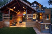 Фото 16 Деревянные дома из бруса (53 фото): проекты и их особенности