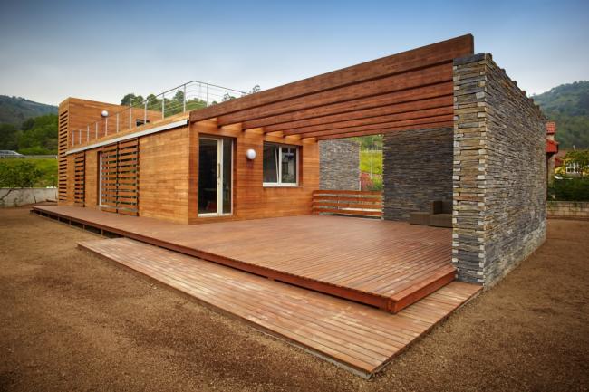 Одноэтажные дома могут занимать большую площадь на участке