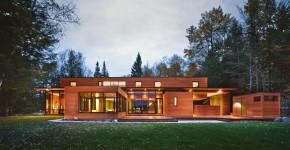 Деревянные дома из бруса (53 фото): проекты и их особенности фото