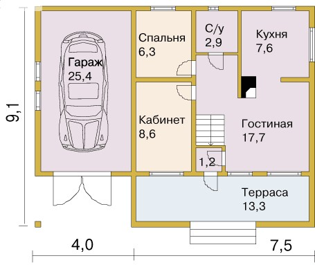 Рис. 3. План первого этажа