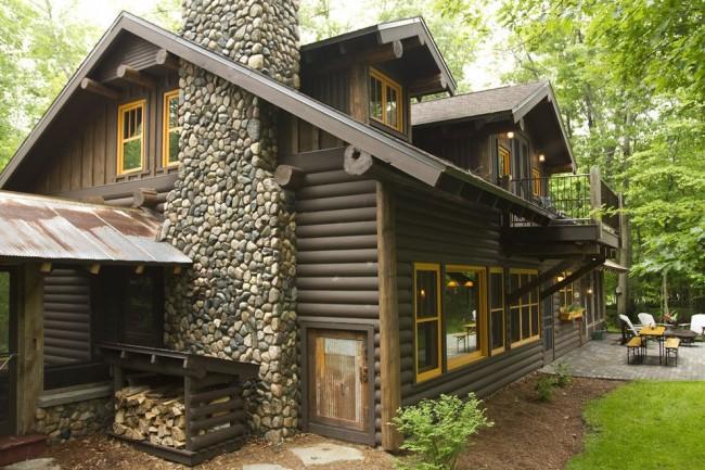 Дом из сруба обойдется дешевле, чем аналогичной площади дом из кирпича или бруса