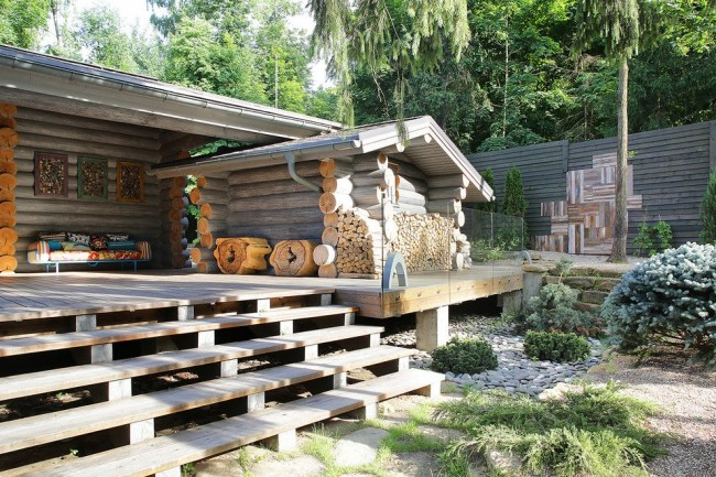 Популярность домов из оцилиндрованного бревна растет с каждым днем