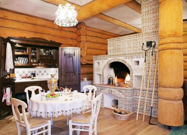 Печь - один из главных атрибутов русского стиля