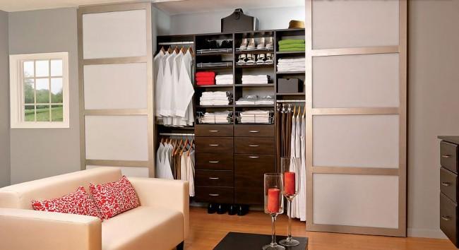 Раздвижные двери-купе для гардеробной