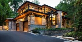 Комбинированные дома из камня и дерева (51 фото): проекты, преимущества, особенности строительства фото