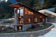 Фото 6 Комбинированные дома из камня и дерева (51 фото): проекты, преимущества, особенности строительства