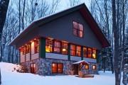 Фото 2 Комбинированные дома из камня и дерева (51 фото): проекты, преимущества, особенности строительства