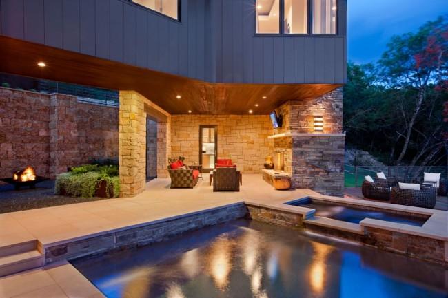 При проектировании внутреннего пространства лучше всего отталкиваться от особенностей материалов этажей