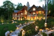 Фото 1 Комбинированные дома из камня и дерева (51 фото): проекты, преимущества, особенности строительства