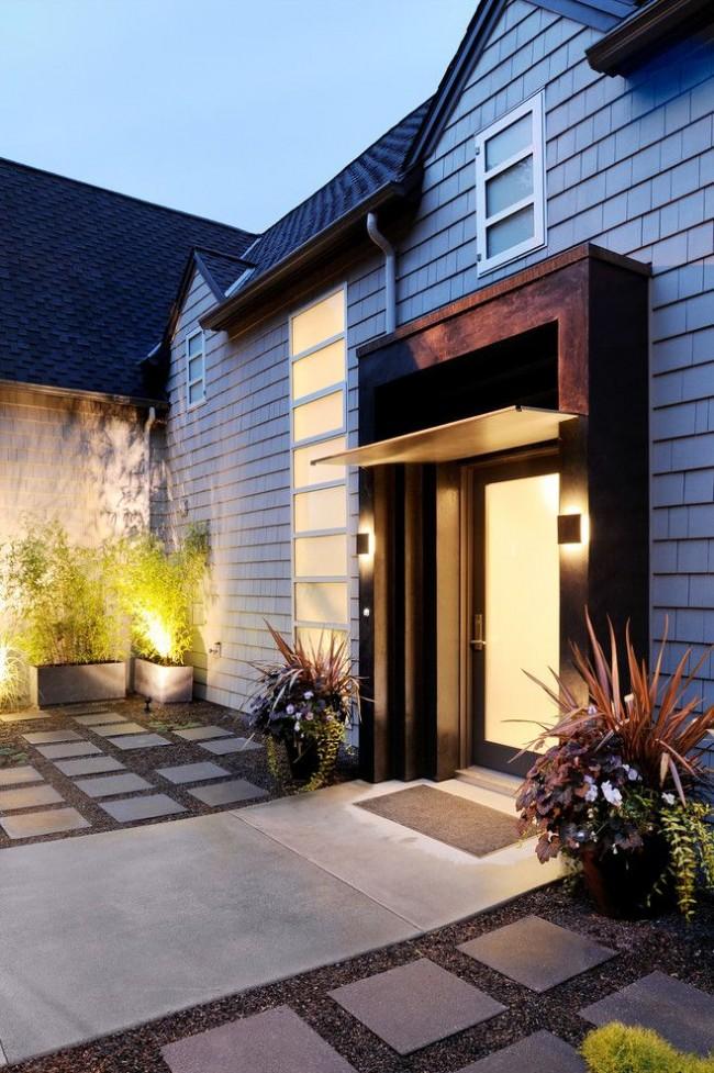 Навес над крыльцом – это архитектурно-фасадная конструкция, которая выполняет практическую и декоративную функцию