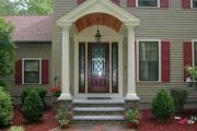 Фото 14 Как сделать козырек над крыльцом (61 фото): создаем красивый вход в дом